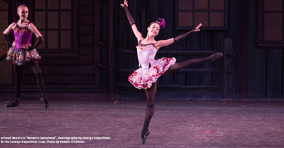 George Balanchine's Western Symphony ballet performed by Ballet Arizona featuring Arianni Martin