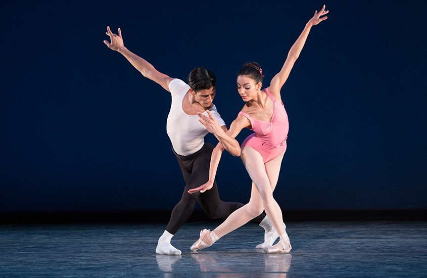 Helio Lima and Arianni Martin in Balanchine's Symphony in Three Movements