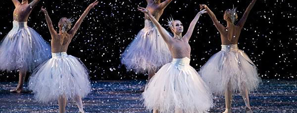 Snowflakes. Ballet Arizona. The Nutcracker. Ib Andersen