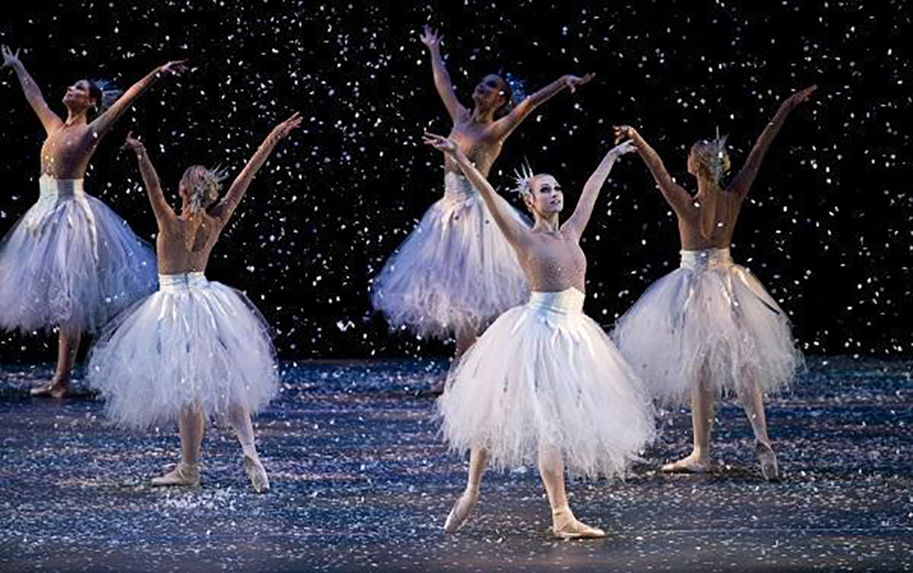 Snowflakes. Ballet Arizona. The Nutcracker. Ib Andersen