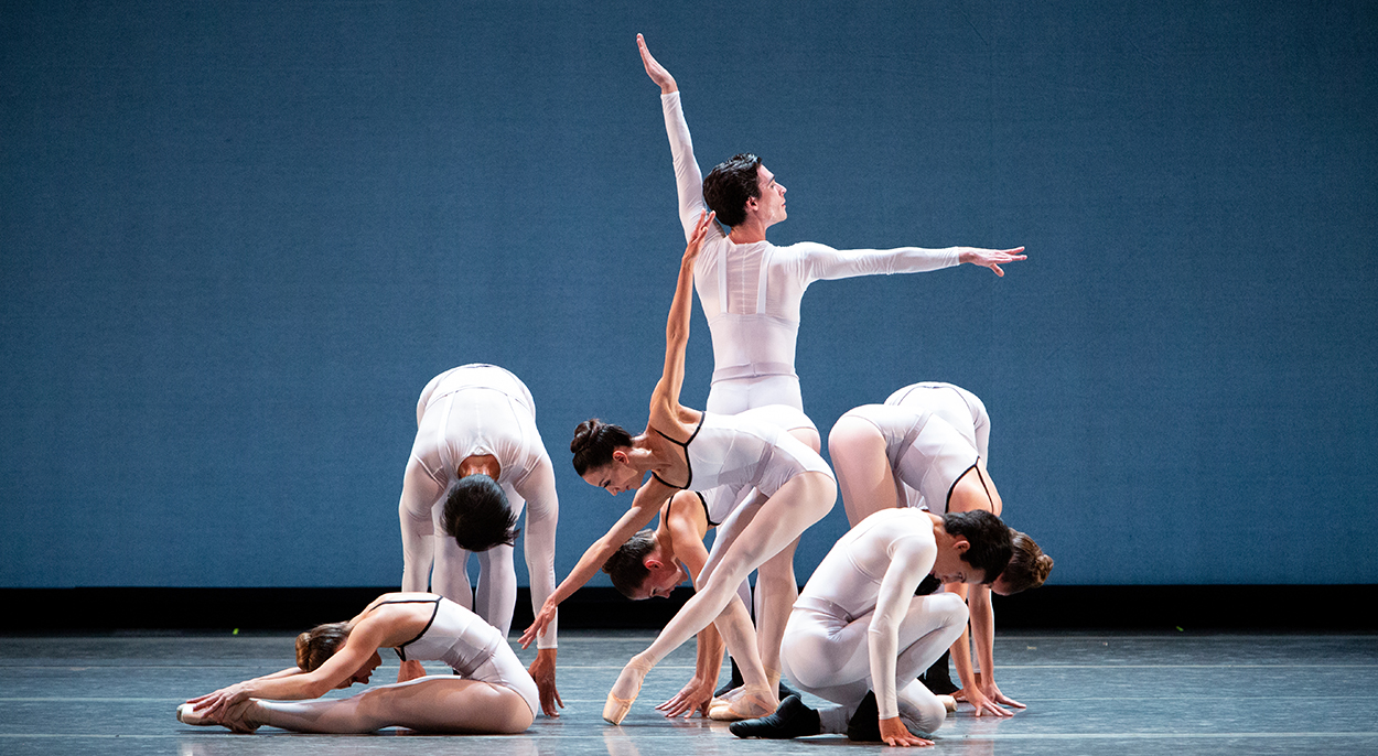 "Ballet Arizona dancers in ""In Creases."" Choreography by Justin Peck. Photo by Alexander Iziliaev."
